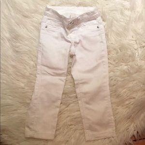 White Jean Capri pants girls